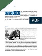 Présentation de l'OSCE