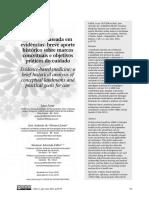 Faria et al - Medicina baseada em evidências breve aporte histórico sobre marcos conceituais e objetivos práticos do cuidado