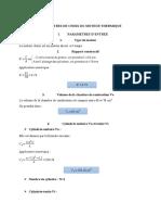 Parametres de Choix Du Moteur Thermique