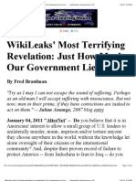 WikiLeaks' Most Terrifying Revelation_ Just How Much Our Government Lies to Us _ Information Clearing House_ ICH