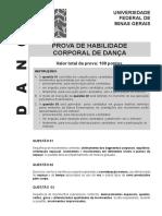 2a etapa Dança - Prova HAB CORPORAL DANÇA 2019