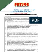 QP_ANDHRA PRADESH_NTSE_STAGE 1_2020-21_SAT