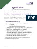 Admission Programme MA21 Jazz