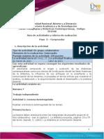 Guía de actividades y rúbrica de evaluación - Paso 3 - Comprender
