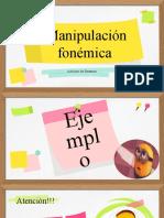 manipulación de fonemas