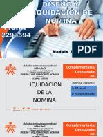 DISEÑO Y LIQUIDACION  NOMINA M 1 PRIMERA PARTE