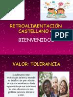RETROALIMENTACIÓN- CASTELLANO- 4° 1 junio