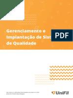 Gerenciamento e Implantação de Sistemas de Qualidade Unidade I