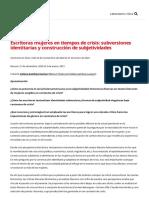 Escritoras mujeres en tiempos de crisis_ subversiones identitarias y construcción de subjetividades - 17