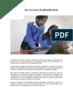 La Educación a través de plataformas digitales (1)