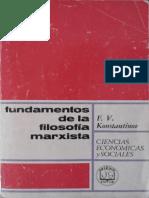Konstantinov Fundamentos de La Filosofia Marxista Leninista
