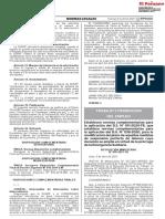 Establecen Normas Complementarias - Resolución Ministerial N 058-2021 MTPE