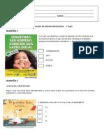 SIMULADO DE LP  - 4º BIM 1° ANO (2011)