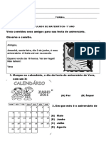 simulado MATEMÁTICA 2º BIM 1º ANO (2011)