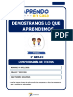 6°  COMPRENSIÓN DE TEXTOS