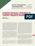 Cena_Dettano_POLÍTICAS SOCIALES Y EMOCIONES EN EL MARCO DEL COVID-19 SOBRE VIEJOS NUEVOS DEBATES_CLACSO