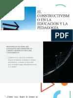 El Constructivismo en la Educación y la Pedagogía