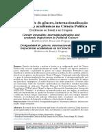ROCHA-CARPIUC, C.  MADEIRA, R. Desigualdade de gênero, internacionalização e trajetórias acadêmicas na Ciência Política evidências no Brasil e no Uruguai