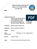 Clasificacion de las organizaciones internacionales Informe[2520] B