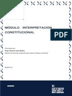 Modulo 12 Interpretación Constitucional