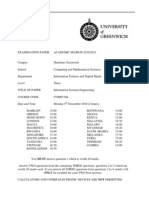 Information Systems Engineering Exam December 2010 - UK University BSc Final Year