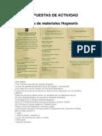 Lista de Materiales Hogwarts