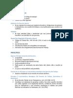 Cuestionario de Aspectos Generales Del Derecho Laboral-I