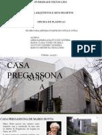 Apresentação da Casa Pregassona - Mário Botta