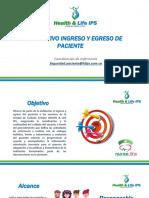 Instructivo de Ingreso y Egreso de Paciente