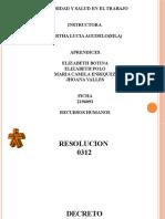 RESOLUCION 0312, DECRETO 2157