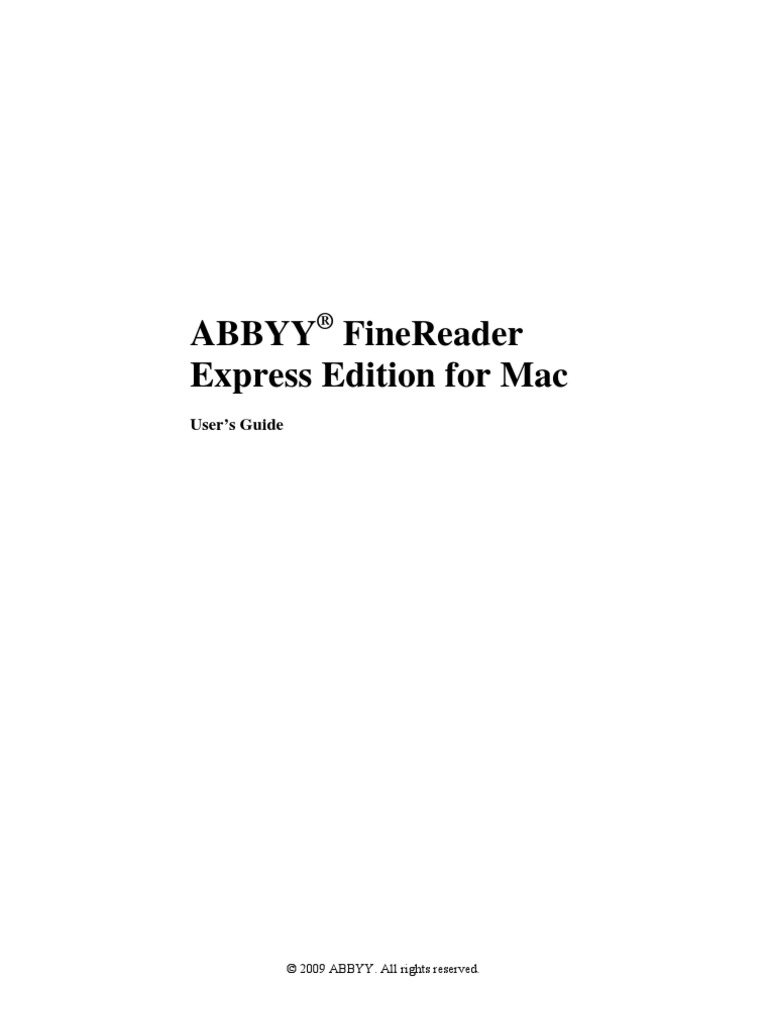 Guide to ABBYY English | Finder (Software) | Image Scanner