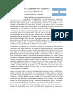 Documento de postura de la república de Argentina