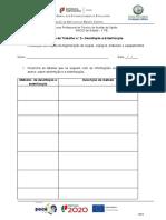 11ºano- Ficha de Trabalho - Desinfeção e Esterilização