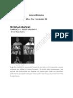 Tecnicas gráficas Grabado y Performance