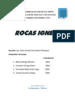 INFORME DE ROCAS IGNEAS