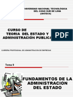Fundamentos de La Aministracion de LEstado