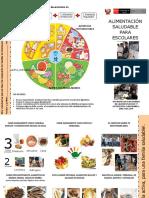 Triptico Para Mensajes de Alimentacion Saludable en Escuelas