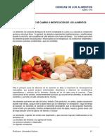 Capítulo 4 Transformación de los alimentos. Clase 25 de febrero, 2020