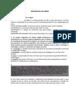 DISCURSIVAS DE LIBRAS