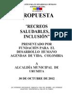 PROPUESTA   RECREOS  SALUDABLES   E  INCLUSION