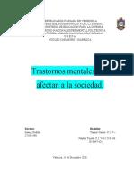 Trastornos Mentales que Afectan a la Sociedad