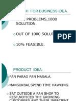 SEARCH FOR BUSINESS IDEA1