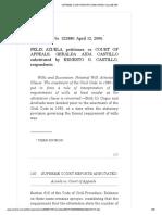 25. Felix Azuela vs. CA, Gr No. 122880, April 12, 2006