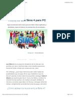 Trucos Los Sims 4, TODAS las claves que existen (2019)
