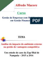 Análise Do Impacto Do Ambiente Externo Na Gestão de Vantagens Competitiva