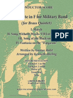 Holst Second Suite for Military Band in F for Brass Quintet