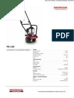 Modèle Motobineuse Fg 110