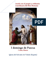 I domingo de Pascua. Propio y ordinario de la santa misa