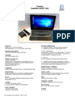Infoblatt Toshiba u920t