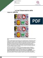 Fake news, nasce l'Osservatorio della Regione Marche - 2 aprile 2021